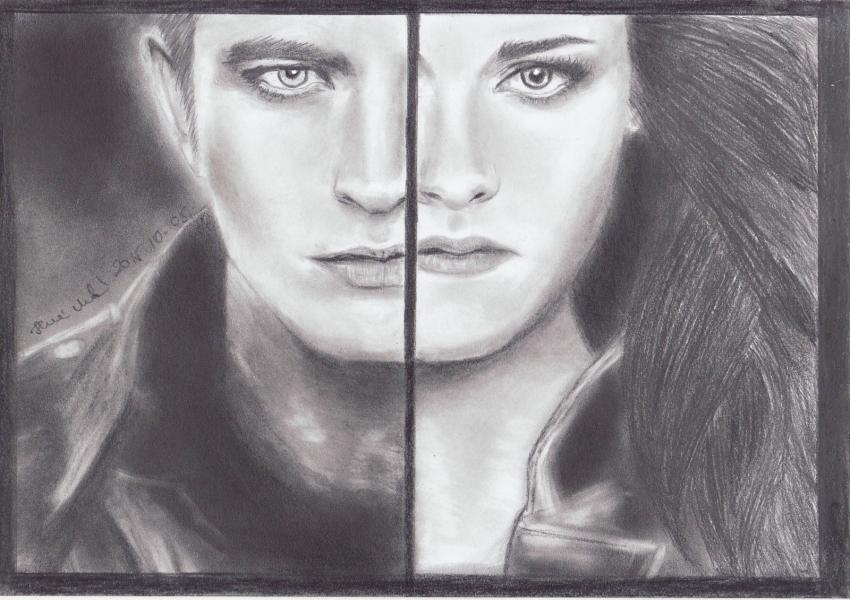 Robert Pattinson, Kristen Stewart by mklari77
